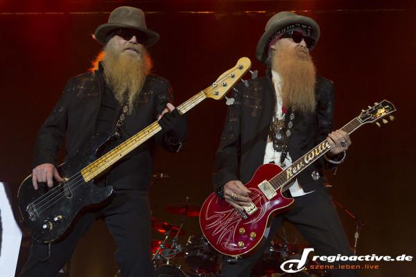 Legendäre Bärte - Fotos: ZZ Top live in der Hanns-Martin-Schleyer-Halle in Stuttgart